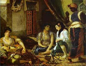 Femme d'Alger dans leur appartement, Eugène Delacroix